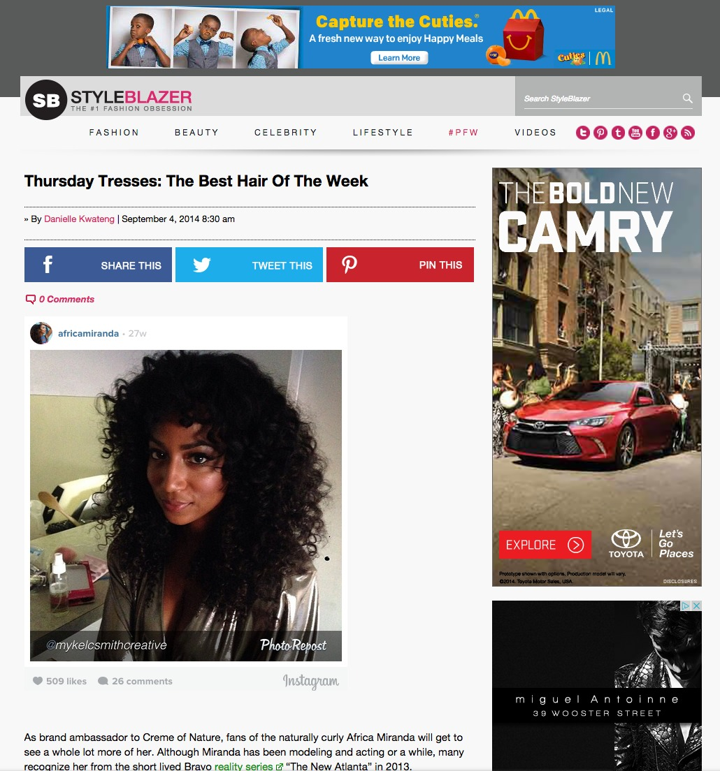 Thursday Tresses: The Best Hair Of The Week